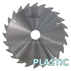 Plastic tipped saw